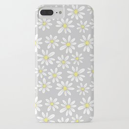 simple daisies on gray iPhone Case