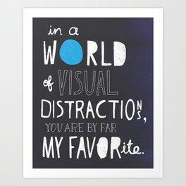 Visual Distractions Art Print