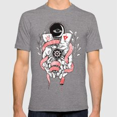 The Blood offering LARGE Tri-Grey Mens Fitted Tee