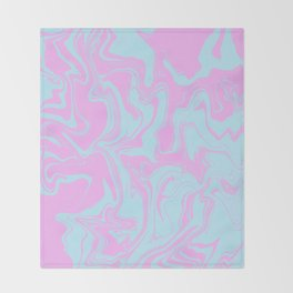 Random abstract instruction Throw Blanket