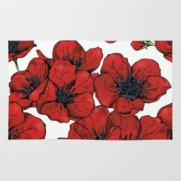 Poppies Pattern Rug