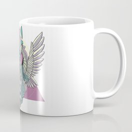 Valkyrie With Angel Wings And Wolf Coffee Mug