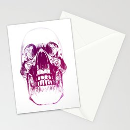 purple crystal skull Stationery Cards