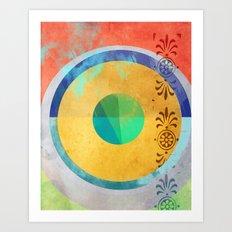 Half Quater Hue Art Print