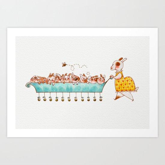 Mother Rabbit Art Print