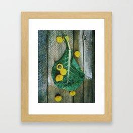 Collard Greens Framed Art Print