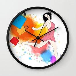 I love Shopping! Wall Clock