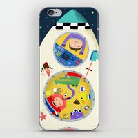 spaceship iPhone & iPod Skins featuring Spaceship  by ilana exelby