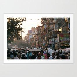 Buzzy Delhi Art Print