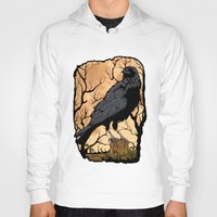 crow Hoodies featuring Crow by Murat Sünger