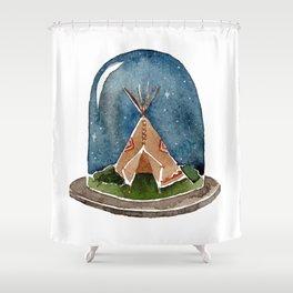 Terrarium teepee Shower Curtain