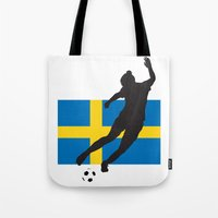 sweden Tote Bags featuring Sweden - WWC by Alrkeaton