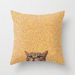 Glitzy Cat Throw Pillow