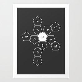 Grey Unrolled D12 Kunstdrucke