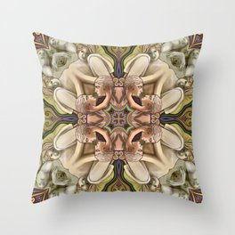 Figural Mandala Throw Pillow