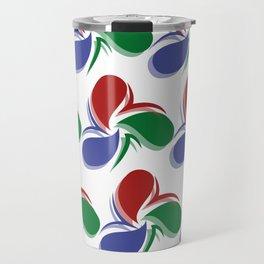 Colorful Stylish Retro Water Drops Patterns Gift Idea Travel Mug