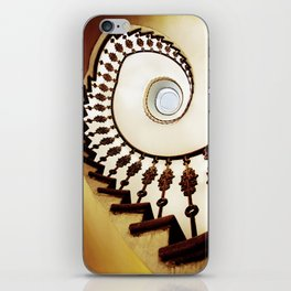 Spiral staircase in warm colours iPhone Skin