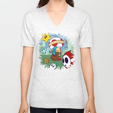 Treasure Tracked: Captain Toad's Fortune (Alt Version: No Text) Unisex V-Neck