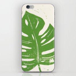Linocut Leaf iPhone Skin