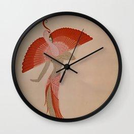"Art Deco Illustration ""Swan Theatre Costume"" Wall Clock"