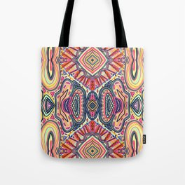 Desert Sun Pattern Tote Bag