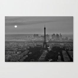Black and White Eiffel Tower - Paris Canvas Print