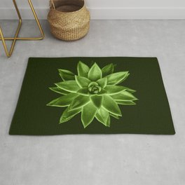 Greenery succulent Echeveria agavoides flower Rug