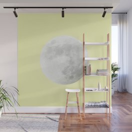 WHITE MOON + CANARY YELLOW SKY Wall Mural