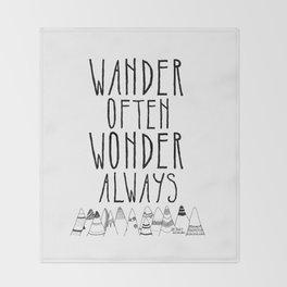 Wander Often Wonder Always™ Throw Blanket