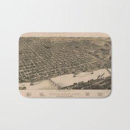 Perspective Map of Little Rock, Arkansas (1887) Bath Mat