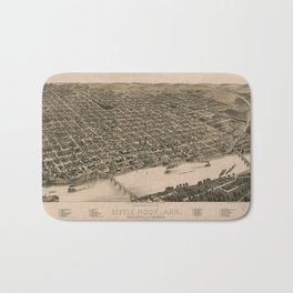 Perspective Map of Little Rock, Arkansas (1887) Bath Mat