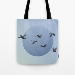 Wild Geese Fly North Tote Bag