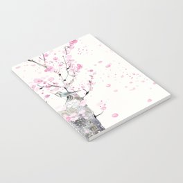 Cherry Blossoms And Birds Notebook