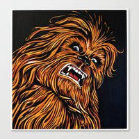 chewbacca Canvas Prints featuring Chewbacca by Laura-A