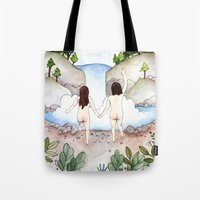 freedom Tote Bags featuring Freedom! by Brooke Weeber