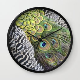 Peacock feathers pattern Wall Clock