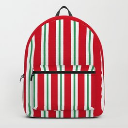 Christmas Stripe - Wide Small Wide Backpack