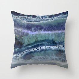 Deep Water Texture Throw Pillow
