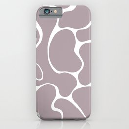 Lavender Grey Organic Shapes Minimalism iPhone Case