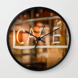 Diffraction 2 (Café - Coffee) Wall Clock