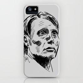 Hannibal Lecter Sketch iPhone Case