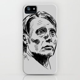 Hannibal Lecter Sketch iPhone Case