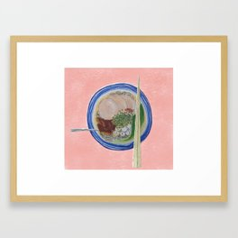 Noodle pink Framed Art Print