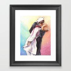 End of War Zombie Kiss Framed Art Print