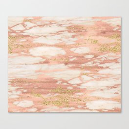 Sorano rose gold marble Canvas Print