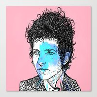 dylan Canvas Prints featuring Dylan by Samuel Charrois