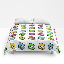 splatoon cute pattern Comforters