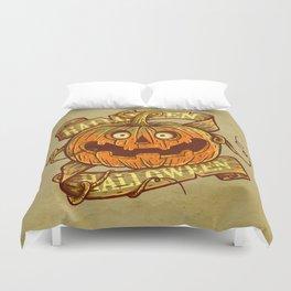 Halloween dark khaki Duvet Cover