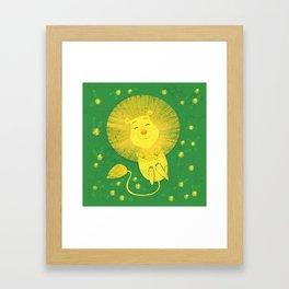Dandy Lion Framed Art Print