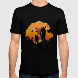 Fallout 4 - Lone Wanderer and Dogmeat Nuke Splatter (Vintage) T-shirt